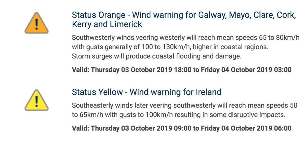 Image result for orange weather warning